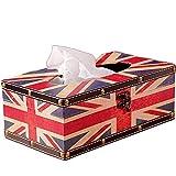 Kleenex Box, PU-Leder Kosmetiktücher Tücherbox Box Taschentuchspender Kleenexbox, Tissue Box Taschentuchbox Kosmetiktuchspender Kosmetiktücherbox Tücher Box (Stil A)