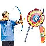 GUOGUO Kinder Spielzeug Pfeil und Bogen mit Bogenhalter Set und Freien Spaßspiel ab 6 Jahre