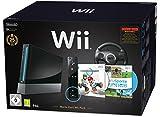 Nintendo Wii 'Mario Kart Pak' - Konsole inkl. Wii Sports, Mario Kart Wii, Wii Lenkrad + Remote Plus Controller, schwarz
