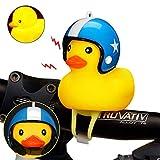 Hamkaw Fahrradhupe, gelbe Ente, Fahrradklingel, schöne Gummiente, Fahrradhupe, Fahrradlenker, Glocke e