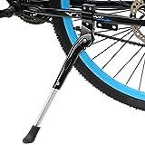 Fahrradständer, WeyTy Universal Höheneinstellbar Fahrrad Ständer faltbar Seitenständer Hinterbauständer mit Anti-Rutsch Gummifuß Aluminiunlegierung für Mountainbike, Rennrad, Fahrräder,Klapprad Schwarz