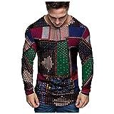 Neue Herren Imitation Baumwolle Und Leinen Top Nationalen Stil Sweatshirt Shirt Mode LäSsig Print Rundhals Bluse (Multicolor, Weiß, Khaki, GrüN) M/L/XL/XXL/XXXL