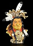 Indianer Figur Büste - Kalispel