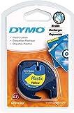 Dymo LetraTag Etikettiergeräte (12 mm, 4-Meter-Rolle) schwarz auf gelb