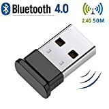 HANPURE Bluetooth 4.0 USB Adapter, Bluetooth Dongle, Plug & Play 2.4Ghz, Perfect für Bluetooth Kopfhörer, Maus, Tastatur, Druckern, PCs, Unterstützt Windows 10/8.1/8/7/Vista/XP