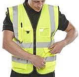 Arbeitsweste Executive, für bessere Sichtbarkeit, M, Gelb - Saturn Yellow, 1