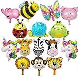 Tilva 15x Tier Folienballons Set für Kindergeburtstage & als Geschenk Kindergeburtstagsdeko Geburtstagsdeko