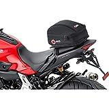 QBag Hecktasche Motorrad 03, Motorradgepäck für Soziussitz/Gepäckträger, Motorrad Hecktasche, 5 Liter Stauraum, leichtes Be-/Entladen, schwarz