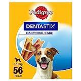 Pedigree DentaStix Zahnpflege Hundeleckerli für kleine Hunde, Kausnack mit Huhn- und Rindgeschmack gegen Zahnsteinbildung für gesunde Zähne, 1er Pack (1x 56 Stück)