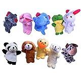 10 Fingerpuppen Set für Kinder | Velvet Tiere Handpuppen | Niedliches Spielzeug Fingertiere | Beyond Dreams