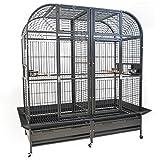 Montana Cages Papageienkäfig XXL Palace, Voliere, Zimmervoliere, mit Trennwand in dunkel