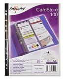 Snopake Hüllen für Visitenkarten, 100Stück