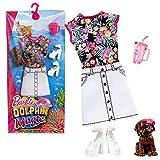 Mattel Strand-Kleid | Mode Magie der Delfine | Barbie FBD87 | Puppen-Kleidung