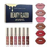 Lippenstift Matt Beauty Glazed 6 Stück Wasserdichte Langlebige Matte Flüssigkeit Lipgloss Lippenstift Kosmetik Make up