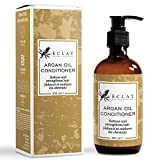 Arganöl Bio Haar Conditioner - Nicht fettender natürlicher Argan Öl Conditioner aus Jojoba und Macadamia mit Vitamin E und Omega 6 Fettsäuren für weicheres, seidigeres und gesünderes Haar