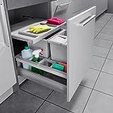 Hailo Separato K Küchen-Abfalleimer, Plastik, Grau, One Size