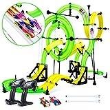 Peradix 2*Fahrzeugen mit DIY Doppelspur Looping Tracks für Kinder ab 6 Jahren