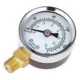 MagiDeal Manometer, Anschluß unten Gewinde 1/8'NPT 0-200PSI Side Mount 1.5'Face Druckmesser z.B. für Druckminderer, Wasserfilter, Druckanzeiger, Druckanzeige