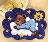 Knüpfkissen Latch Hook Kit 40cm by 40cm Rug Bear