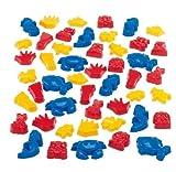 Dantoy Riesen-Sandform-Set - 48 farbenfrohe Sandförmchen in Kindergarten-Qualität (Lieferung nicht nach Österreich)
