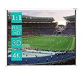 Beamer leinwand - CCLIFE Format 1:1, Rollo funktion, geeignet für Heimkino und Business, Auch als Full-HD und 3D-Leinwand einsetzbar, 203x203cm 178x178cm 152x152cm (Größenwahl), 2 jährliche Garantie, Größe:152 x 152 cm