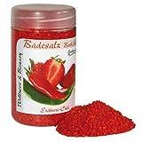 Badesalz Erdbeere, Chili, Camillen 60, Fussbad wärmender Badezusatz für kalte Füsse, mit Fruchtextrakt, 350 g
