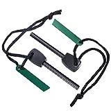 2 Stück Feuer Starter Magnesium Feuerstein Survival Tool Set für Outdoor Camping Leben Survival