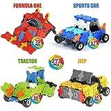 WEofferwhatYOUwant Auto, Traktor & Co. 3D Puzzle Bausatz für Kinder ab 4 Jahre - FLATBLOCKS Level 1 - 273 Teile (DIY)