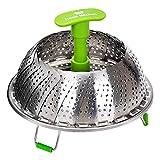 Koala Kitchen Edelstahl Dämpfeinsatz für Koch-Töpfe von 18cm - 28cm stufenlos verstellbarer Dampfgarer zum Gemüse dämpfen BPA-frei rostfrei geeignet für Baby-Nahrung