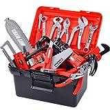 TONGJI Werkzeugkasten Kinder Spielwerkzeug Werkzeugkoffer Set 32Pcs Plastic Pretend Play Kit Pädagogische BAU Spielzeug Für Kinder