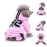 YCGG Hunde Sweatshirt Pullover Mode Hunde Kleidung FüR Kleine Mode Hund Sweatshirts Warme Kleidung Welpen Doggy Bekleidung Kleidung(L,Rosa)