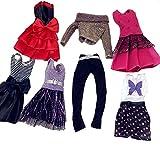 MLANLAN Barbie Kleider Modische Kleidung für Barbie Puppen 7 Pcs für Kinder Geschenk