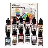 Lebensmittelfarbe flüssig Set 12x 10ml Lebensmittelfarben,Farbe Farbstoff extrem hoch konzentriert,Set zum Geeignet für Kuchen, Backen und alle Lebensmittelfärbungen