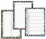 3er SPAR-SET NOTIZBLÖCKE: Wochenplan blanko + Einkaufsliste + To-do Liste von UKULELE / 3x DIN A5 / jeweils 50 Blatt zum Abreißen / einsetzbar als Familienplaner - Mahlzeitenplaner - Putzplan