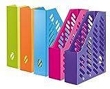 HAN 1601-20, Stehsammler KLASSIK, Klassisches, zeitgemäßes Design, Funktional, Hochwertig und Schick, 10er Packung, Trend Colours farblich sortiert
