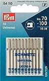 Prym 154110 Maschinennadeln Standard 70-100, 130/705 10 Stück Nähmaschinennadel, Stahl, silber, 3,0 x 0,3 x 0,3 cm