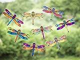 Stickers4 Libellen-Fensteraufkleber zum Schutz gegen Vogelschlag - 8 schöne Libellen-Glasaufkleber, doppelseitig und selbstklebend zum Schutz gegen Vogelkollisionen