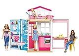 Barbie Mattel DVV48 - 2-Etagen Ferienhaus und Puppe, Ankleidepuppen-Zubehör