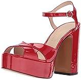 Marc Jacobs Damen Lust Platform Sandal Plateausandale, rot, 40 M EU