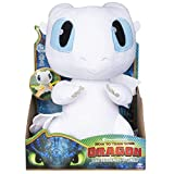 Dragons Movie Line 6046845 - Squeeze und Growl, Plüschfigur mit Sound, Tagschatten (Solid) Drachenzähmen leicht gemacht 3, Die geheime Welt