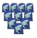 BeeGreen Mitgebsel Kindergeburtstag Party Gastgeschenke Tüten Hai Säckchen 10 Stück Geschenktüten, Jungen Unterwasser Kindergeburtstag Ideen Give Aways Mitgebseltüten