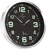 St. Leonhard Funkuhr: Funk-Wanduhr mit Quarz-Uhrwerk, nachleuchtenden Ziffern und Zeigern (Wanduhr beleuchtet)
