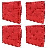 Penthouse Schlaf schön rot-Kissen mit Sitzpolster Chunky Stuhl, Universal Booster, 10cm Dicke (2–4), rot, 45cm x45cmX10CM