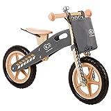 Kinderkraft Runner Laufrad Lernlaufrad Kinder Fahrrad Rad 12 Zoll Holz EU Norm (Nature)