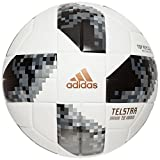 adidas Telstar 18 Fussball Weltmeisterschaft 2018 Replique Ball, White/Black/Silver Metallic, 4
