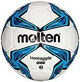 Molten Fussball Trainingsball 1700 Series, Blau/Weiß, 3 Stück