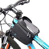 MOZIONE Fahrradtasche Rahmentasche   Radtasche Mountainbike zubehör   Handytasche mit Blendschutz   Fahrrad Handyhalterung   Werkzeugtasche Schwarz   fahrradtaschen vorne Wasserdicht