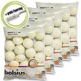DecoLite: 100 Schwimmkerzen von Bolsius mit 4,5h Brenndauer & 1 Kerzenprofi Stabfeuerzeug - Farbe: Elfenbein
