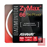 ASHAWAY ZyMax 66 Fire Power 0,66 mm Badminton Saiten Set, Weiß