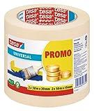 tesa Promo Sparpack Malerband Universal 2 x 50m:19mm + 2 x 50m: 30mm